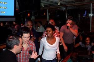 Errbody loves karaoke.