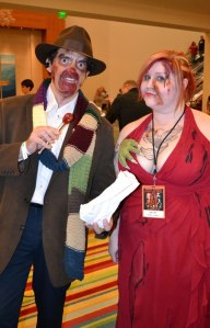 The Zombie 4th Doctor and a Zombie Prom A.D. Sams at Spooky Empire Ultimate Horror Weekend 2012