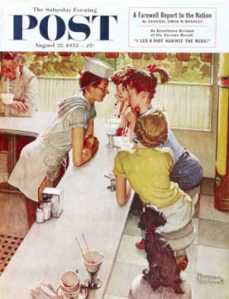This is a cover of the Saturday Evening Post as painted by Norman Rockwell.