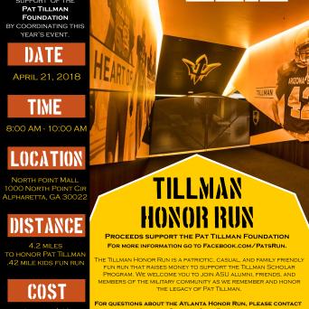 2018 Tillman Honor Run in Atlanta, GA
